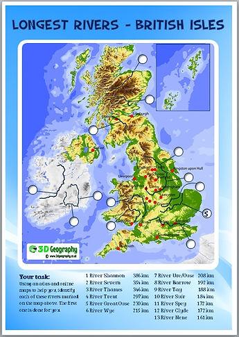 locating the uk's major rivers | river worksheet