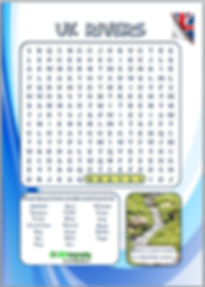 geography word search | UK rivers word search | free worksheet