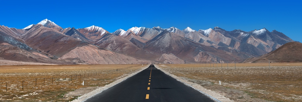 A road through Tibet