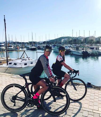 Beautiful bike riding, sorry training, in Majorca