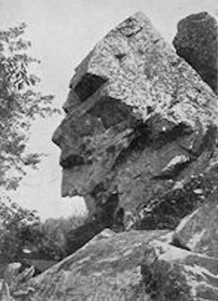 Profile Rock - just one of several haunted rocks in Bridgewater triangle