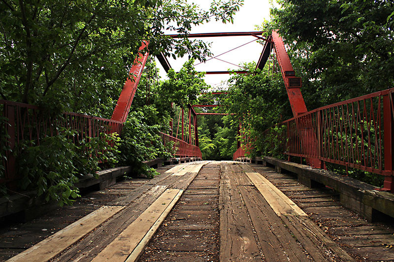 Old Alton Bridge (Goatman's Bridge) is supposedly haunted by the soul of a murdered black man. Or a demon named Steve. Take your pick