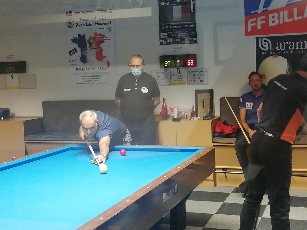 Gerassimopoulos contre Johann Petit (Oissel) arbitré par Patrick Achard (CBM)
