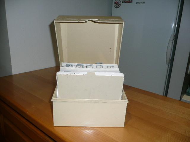 La boîte et ses fiches