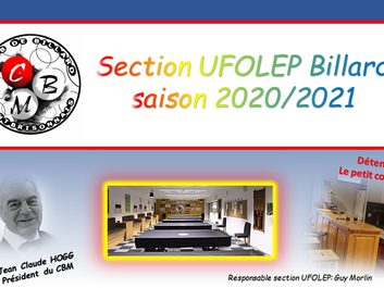SITE DE LA SECTION UFOLEP : CBM section UFOLEP billard