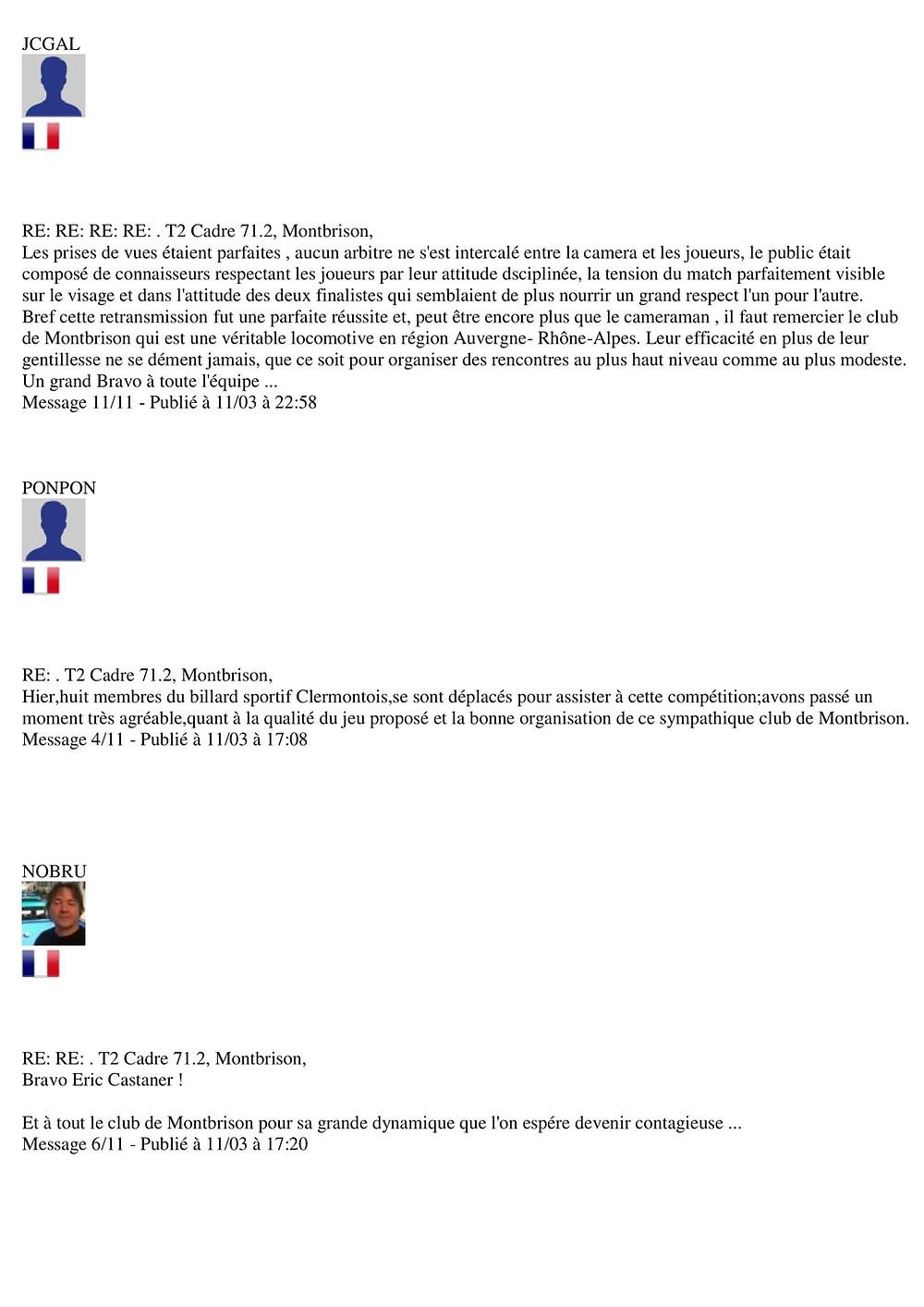 Forum Kozoom, des commentaires