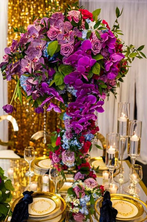 LUXURIOUS FLORAL TOPPER