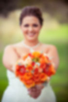A Bridal Bouquet that's very full and vibrant!