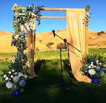 "Wedding arches to frame you as you say ""I do""!"