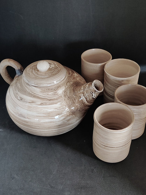 Thé et petits mugs