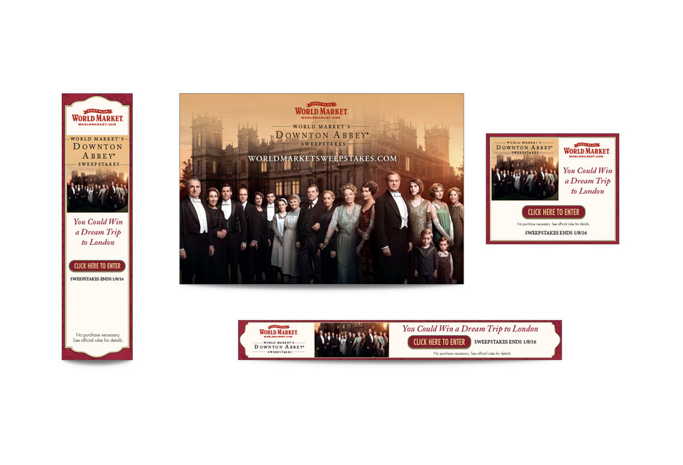Downton Abbey Web Banners