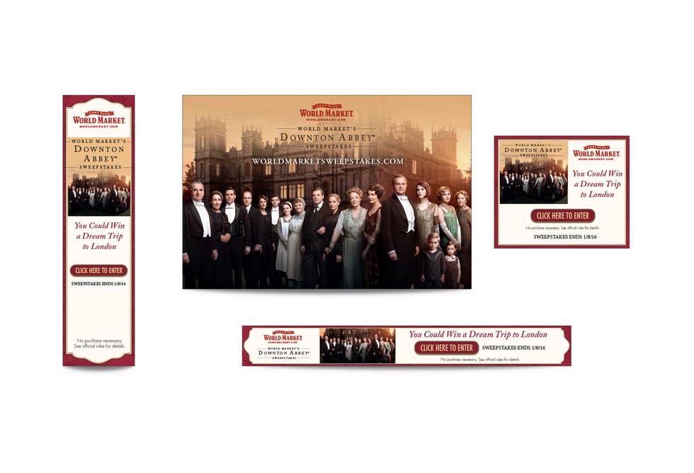 Downton Abbey Web Banners