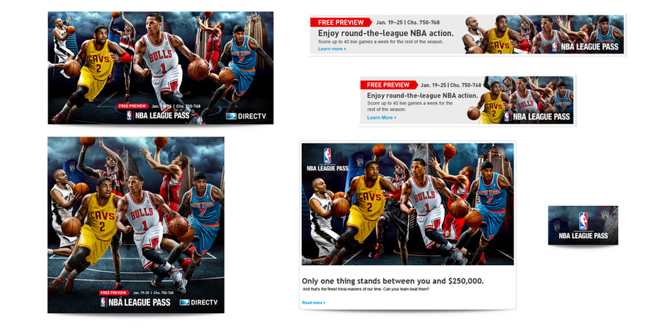 NBA Men's Basketball Web Banners