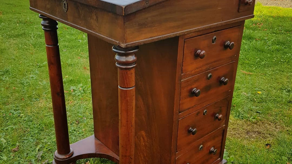 An early 19th century mahogany Davenport desk.
