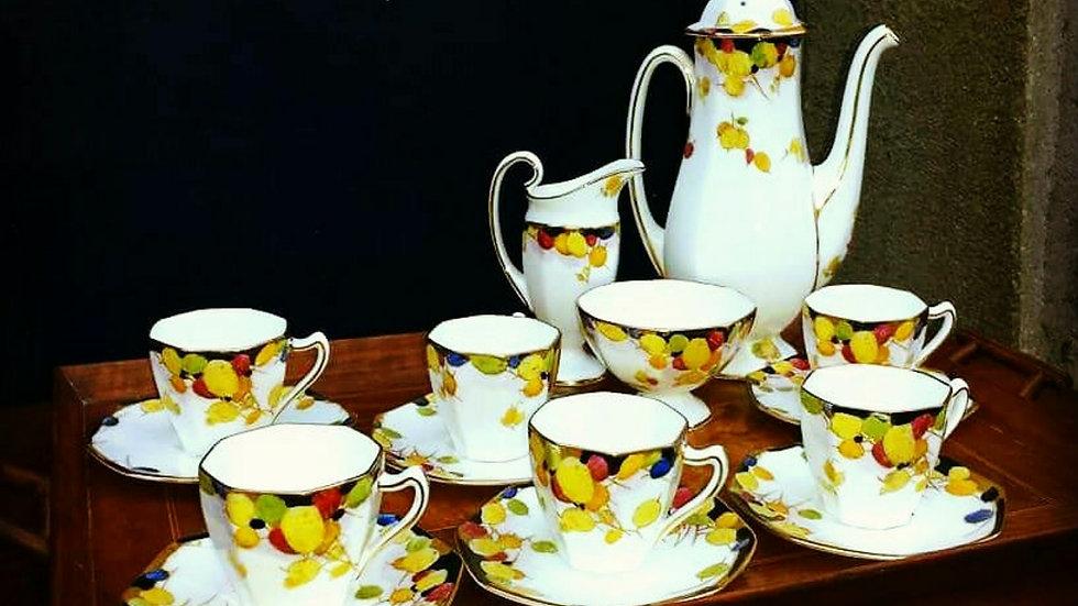 A Royal Doulton china coffee service circa 1925