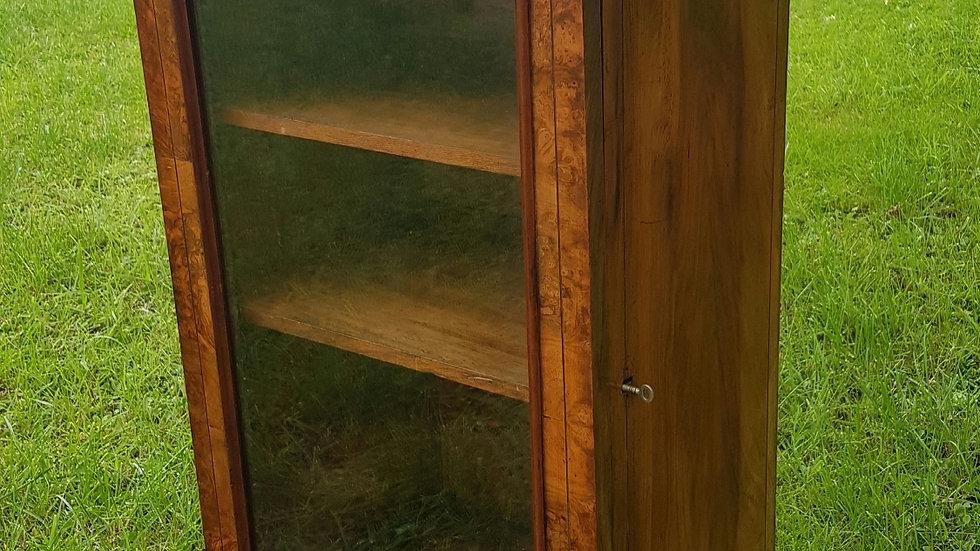 A good quality 19th century burr walnut side cabinet.