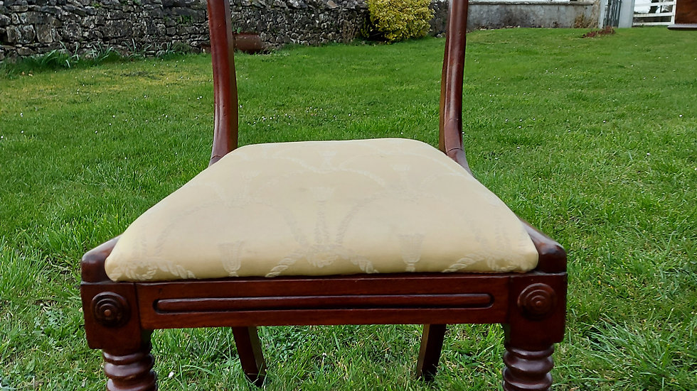 A pair of early 19th century mahogany side chairs