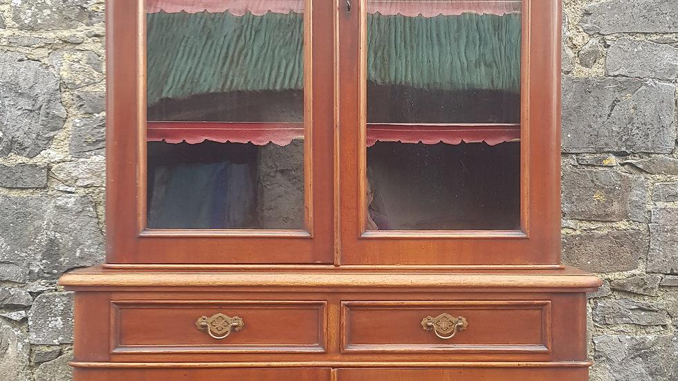 A Victorian mahogany bookcase.