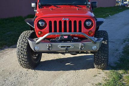 JKU front Mid width winch bumper
