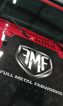 Mountain Metal Hood Decal