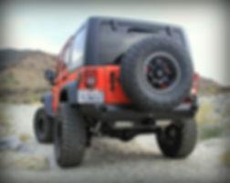 Jeep Jk Wrangler Custom Rear Bumper Spare Tire Carrier Off Road