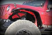 Custom Jeep JK Aluminum inner fender liners