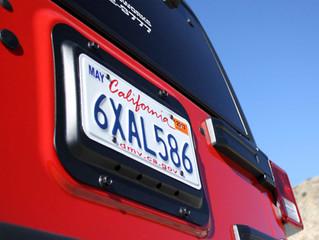 JK License Plate Relocation