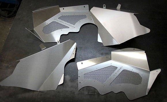 Bare Aluminum Inner Fenders