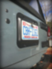 Wrangler License Plate Relocation Bracket