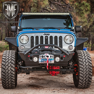 Jeep JK Stubby Front Winch Bumper