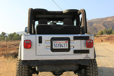 Jeep JK  License Plate Relocation