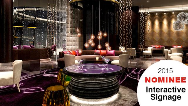 360° MultiTouch Bar-Tische in der Skybar des Hyatt Istanbul