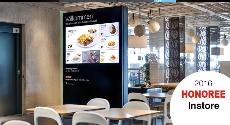 IKEA Einrichtungshäuser mit digitalen Menue Boards