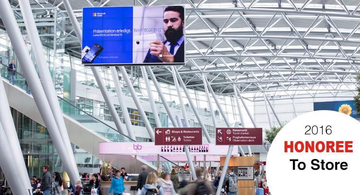 Airport Düsseldorf: Größte Indoor Videowall Europas
