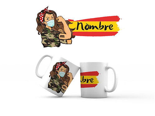 Taza - Mujer Militar