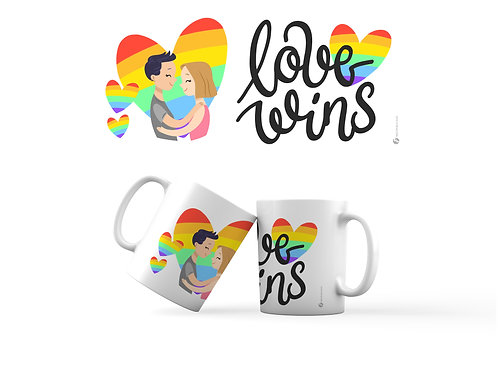 Taza - Love Wins