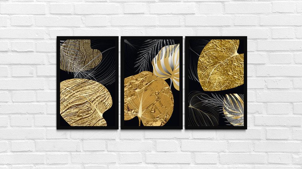 Kit folhas douradas 4