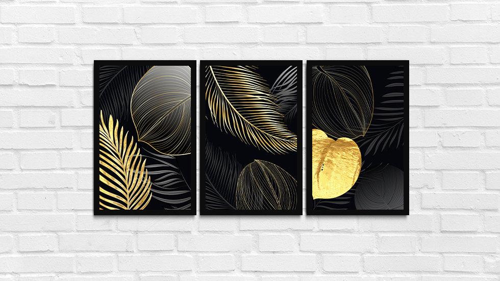 Kit folhas douradas 2