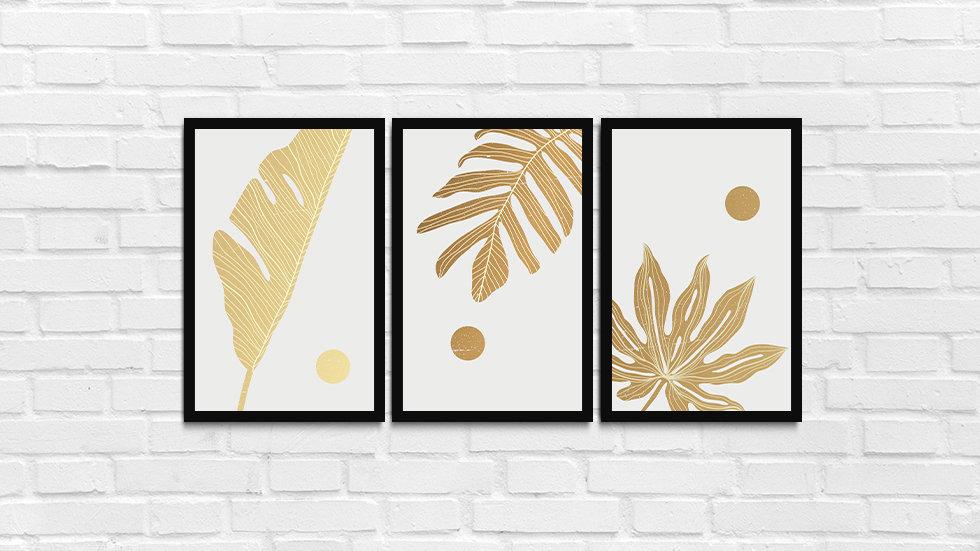 Kit folhas douradas 1