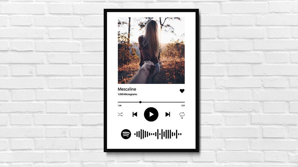 Quadro interativo com Spotify