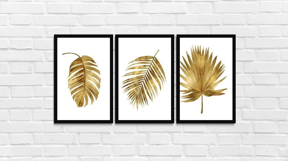 Kit folhas douradas