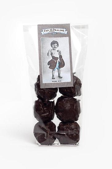 Rochers au praliné amandes et chocolat noir