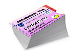 business cards, 1 side, 2 sides, cheap, Montreal