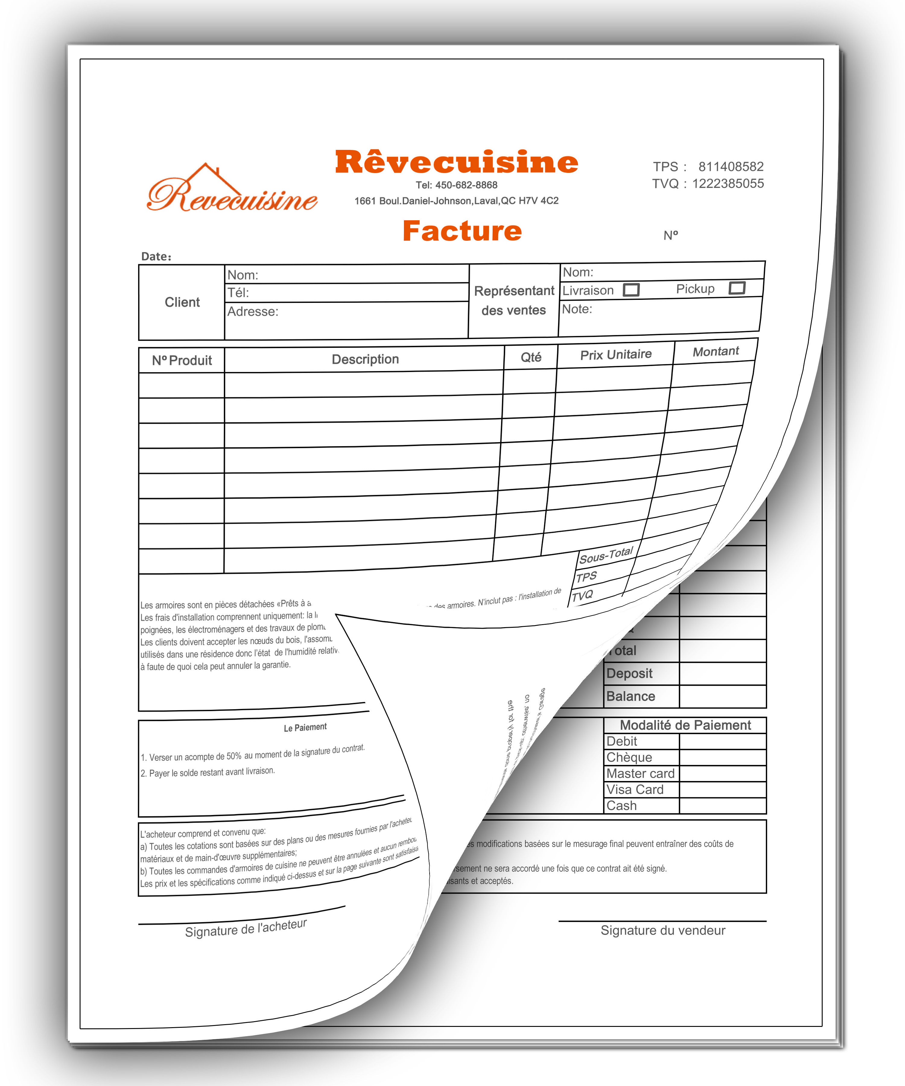 NCR Form (invoice) printing