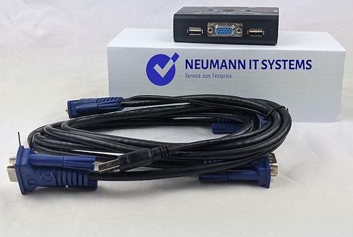 2 Port USB-VGA-KVM Switch-Box ✔️TCRAYCH 2-PORT ✔️
