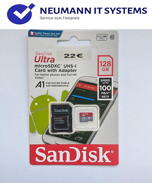 MicroSD SanDisk✔️128 GB✔️SD Adaptor✔️Garantie