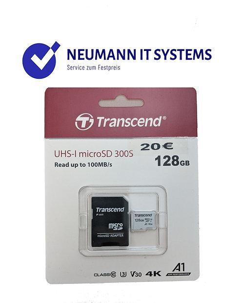 MicroSD Transcend ✔️128 GB✔️SD Adapter✔️Garantie