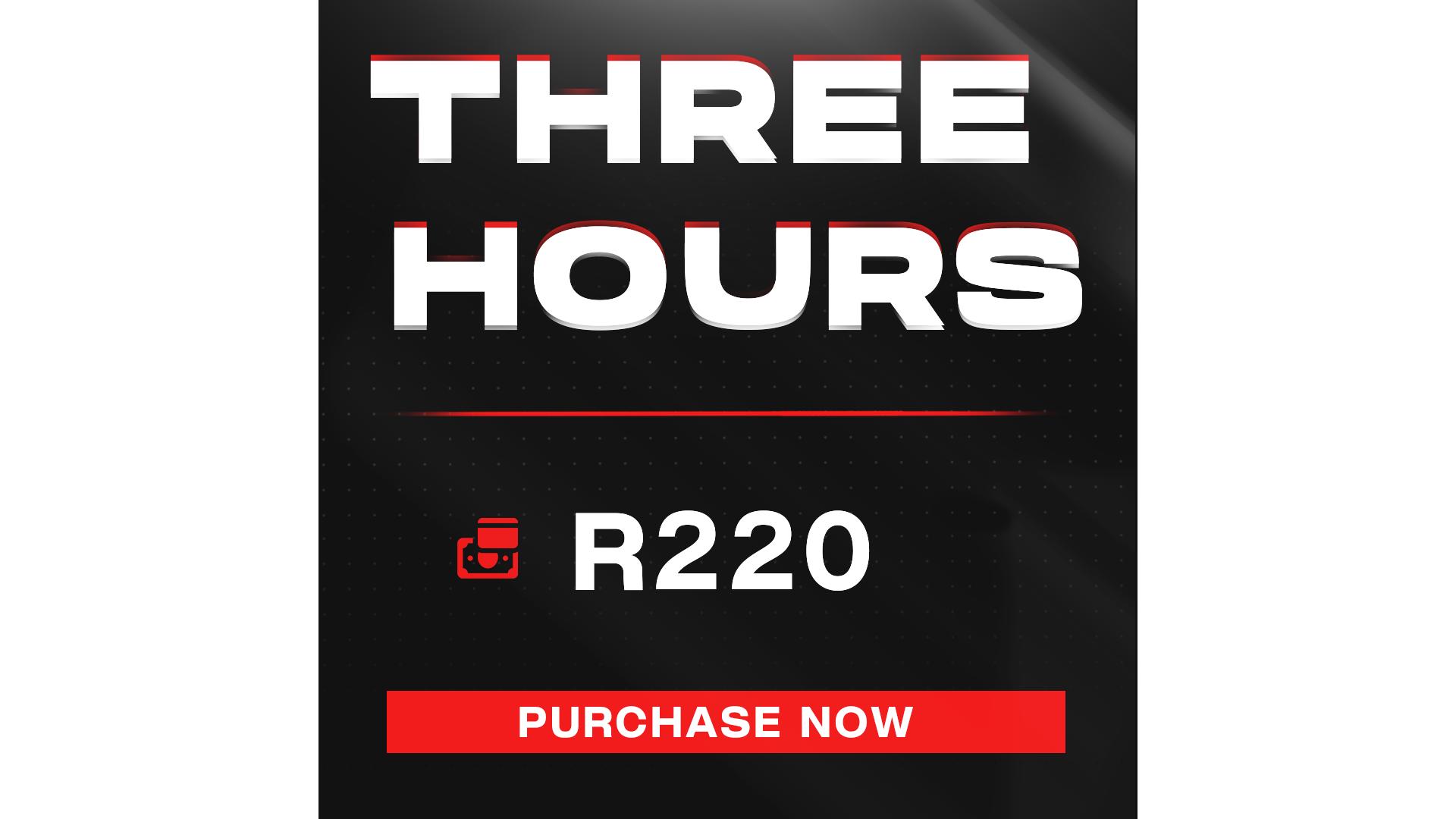 Three Hour Gaming + Entrance