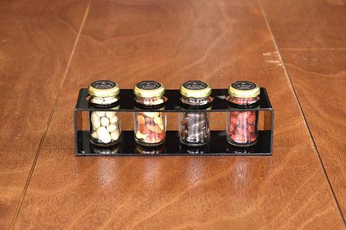 Exhibidor con 4 Frascos Mini