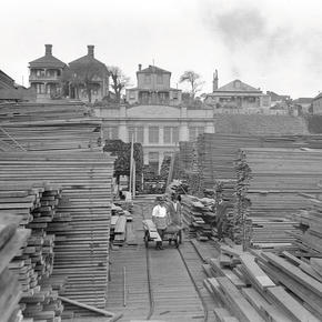 Timber Company Mill, Freemans Bay, Auckland c1920